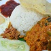 Traditional Nasi Lemak with Rendang Chicken