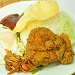 Traditional Nasi Lemak with Fried Chicken