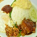 Traditional Nasi Lemak with Sambal Sotong